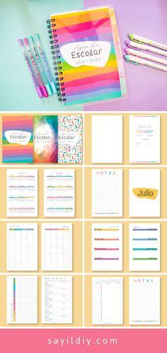 Diy Agenda, Agenda Planner, Student Planner, Bullet Journal School, Math 4 Kids, Calendar Notebook, Diary Decoration, Agenda Organization, Diy Crafts To Do