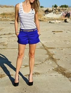 Electric Blue Shorts