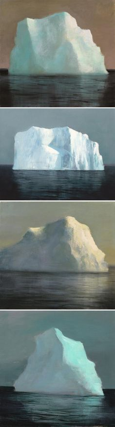 jeremy miranda - paintings of icebergs