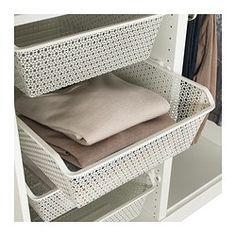 KOMPLEMENT Cestello metallo/binario estraibile, bianco - bianco - 50x58 cm - IKEA