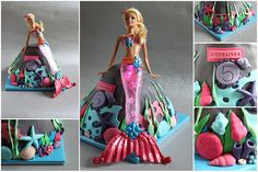 Cake with mermaid doll