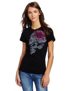 $21.99 - $22.00, 100-percent cotton jersey crew neck tee with front screen with glitter ink