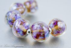 Gossamer Lampwork Glass Beads by Lori Bergmann on Etsy (www.LoriBergmann.etsy.com) #handmade #etsy #jewelry supplies