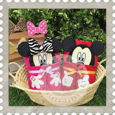 3D Boy & Girl Mice Peekers ~ French Frills