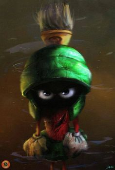 Marvin the Martian by Adnan Ali. ❣Julianne McPeters❣ no pin limits Classic Cartoon Characters, Looney Tunes Characters, Looney Tunes Cartoons, Cartoon Tv, Classic Cartoons, Movie Characters, Character Art, Character Design, Comic Art