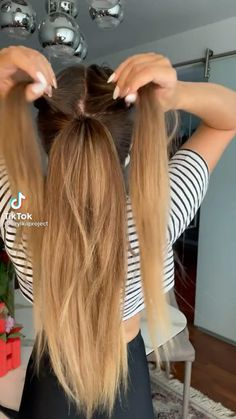 High Ponytail Hairstyles, Ponytail Hairstyles Tutorial, Office Hairstyles, Haircuts For Long Hair, High Ponytails, Easy Hairstyles, Hairstyles For Medium Length Hair Easy, Bob Hairstyle, Hair Tips Video
