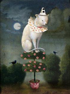 Titre de l'image : Catrin Welz-Stein - Harlekin Cat