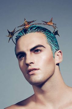 Fashion editorial makeup avant garde headpieces for 2019 Pelo Editorial, New Hair, Men's Hair, Beautiful Men, Beautiful People, Fashion Editorial Makeup, Beauty Editorial, Male Makeup, Makeup Man
