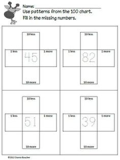 Math Coach's Corner: Hundred Chart Freebies