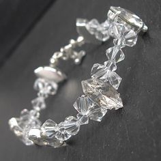 Swarovski Wedding Bracelet  Clear Swarovski by WeddingAndGems, £25.99