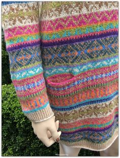Sage : fair isle tuniek jurk :design by Marie Wallin maar dan top-down made by Dutch Knitty made with Holst supersoft FAIR ISLE fairisle fair-isle top-down topdown seamless