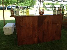 Looking for that fun rustic farm bar for your CT farm wedding? Look no further. #tentsunlimitedct