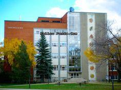 Faculty of Engineering Building in Autumn | University of Alberta Campus Photo - Edmonton, Alberta, Canada | FollowPanda.COM