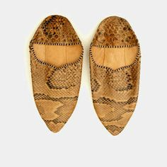 Vintage snakeskin leather Moroccan babouches