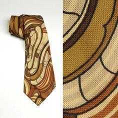 Mens Psychedelic Ice Cream Classic Casual Tie Necktie