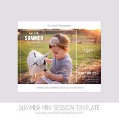 Mini-Sitzung-Postkarte - Fotografie - Flyer - Vorlage Strand Minis - Kinder - 5 x 7 - Minis - Photoshop - Elementen - einfach - Sommer-Foto-Session