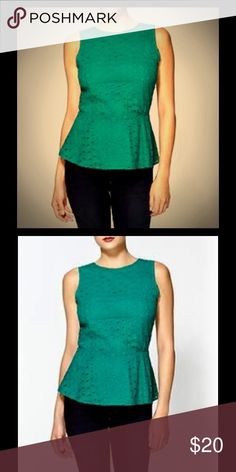 Pim + Larkin Jade Eyelet Peplum Top This top is so adorable. I received many compliments on it over the years. It's in excellent condition! Piperlime Tops Tank Tops