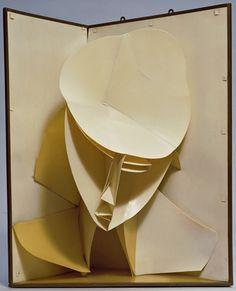 Giant pop up book Sculpture Head, Cardboard Sculpture, Abstract Sculpture, Paper Sculptures, Cardboard Art, Kirigami, Giuseppe Penone, Pochette Cd, Collage Kunst