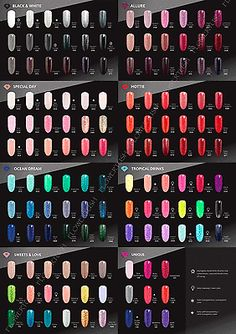 #Semilac #hybrid nail polish soak off gel 7 ml all #colors,  View more on the…