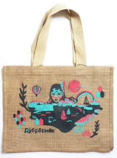 Perfect environmentally friendly Uni bag!    Dubrovnik Bike Jute Tote Bag from Form.Function.Style -$19.95    #student
