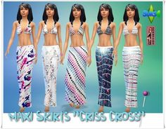 Maxi Skirts Criss Cross at Annett's Sims 4 Welt via Sims 4 Updates #Sims4 #Downloaded