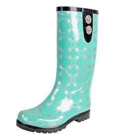 Loving this Green Chain Puddles II Rain Boot on #zulily! #zulilyfinds