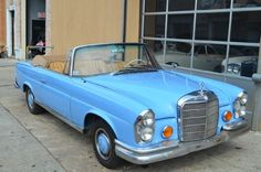 # 17999 This 1963 Mercedes-Benz 220SE Cabriolet Convertible . It is equipped with a 4 Speed Manual transmission. The vehicle is Blue with a Tan interior. - 1963 Mercedes 220SE Cabriolet Baby blue with tan leather interior. Excellent condition. For only $46,500 - AM-FM - Contact Internet Sales at 718-545-0500 or gullwingny@aol.com for more information. - -
