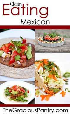 Recipes for Clean Eating Mexican Food. Mexican Food Recipes, Whole Food Recipes, Healthy Recipes, Healthy Cooking, Healthy Eating, Cooking Recipes, I Love Food, Good Food, Clean Eating Recipes
