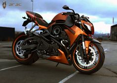 The Ducati Hunter, this bike would get more than a head turn from me! Stylistically, the Arac ZXS looks something like a hybrid of Jap brands and the Italian Ducati, none of which hold a match to the ZXS's extremely robust body and aggressive stance. This v-twin beast is 100% street fighter. As with any concept, it's hard to say what the performance is like, but judging by the mean look on its face, it's probably safe to say that it's somewhere between breathtaking and heart-stopping.