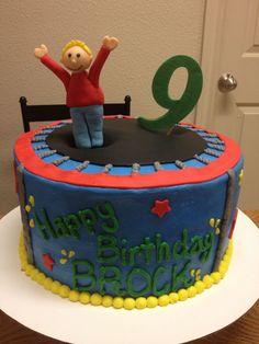 1000 Ideas About Trampoline Cake On Pinterest Birthdays