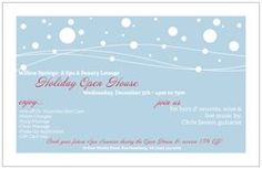 Holiday Open House @ Willow Springs!! Invites Ordered!