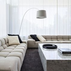 There's style in sofas! some design sofas that you're bound to adore! design sofas springfield house - adelaide - contemporary - living room - adelaide - by ZMJZFHA Living Room Interior, Home Living Room, Living Room Designs, Living Room Decor, Minimalist House Design, Minimalist Interior, Minimalist Home, Sofa Design, Interior Minimalista
