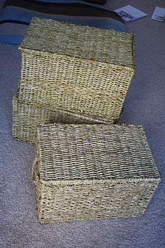 DIY hanging file baskets