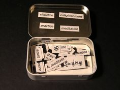 Altoids Tin Pocket Shrines.  Beautiful art activity with a lot of meaning and purpose.