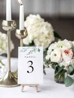 Table Number Template Printable Wedding Table Number Sign