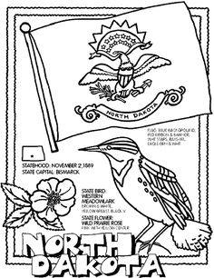 North Dakota coloring page