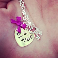Custom sister stamped necklace by 2tinyhearts on Etsy, $26.00