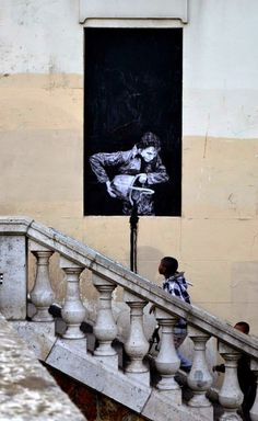 "Levalet ""Night And Day"" New Street Pieces - Paris, France"