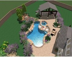 Tropical Pool Poolside Landscape Design, Pictures, Remodel, Decor and Ideas - page 7