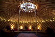 "Know as a Ger in Mongolia, a Boyuz in Kyrgyzstan the word Yurt comes from Russian origins and means ""shack"" or ""shanty"". A nomadic tent that has been evolving for over a thousand years, and is designed to withstand some pretty tough conditions, they are sturdy, warm and fantastically crafted making them the perfect entertainment tent!"