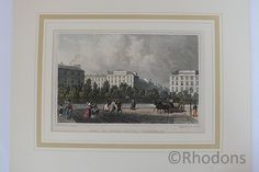 """Early Century steel engraving with colour tinting. Drawing by Tho H Shepherd engraving by H W Bond Believed to be taken from a copy of """"Modern Athens! Displayed in a Series of Views : or, Edinburgh in the Nineteenth Century"""" (London : Antique Prints, Vintage Prints, Retro Vintage, Athens, Edinburgh, Art For Sale, Bond, 19th Century, Colour"""