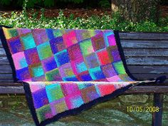 My knit masterpiece, mitre square noro silk garden throw.