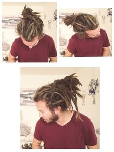 Love men w dreads and beards :D Dreadlocks Men, Dreadlock Rasta, Dreadlock Styles, Dreads Styles, Hair And Beard Styles, Curly Hair Styles, Natural Hair Styles, Dreadlock Hairstyles, Cool Hairstyles