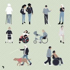Flat Vector Disabled Cutout People - Visit Toffu for resources on Arc . - Flat Vector Disabled Cutout People – Visit Toffu for architectural presentation resources - Architecture Presentation Board, Architectural Presentation, Presentation Boards, Architectural Models, Photomontage, Urban Icon, Lighting Diagram, Human Drawing, Illustrations And Posters