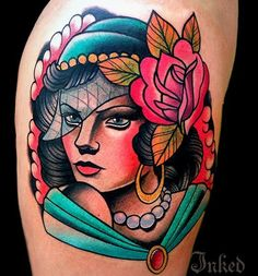 Great lady head by Mike Stockings