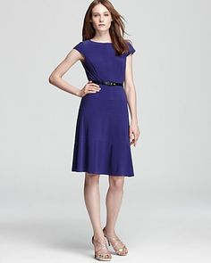 Anne Klein Belted Dress - MJ Swing | Bloomingdale's