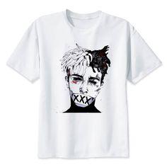 404236c580 Newest Fashion Man Tshirt Xxxtentacion Summer Fashion T shirt Casual White  Funny Cartoon Print T-