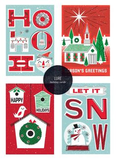 Vintage-Inspired Holiday Cards   Lure Paper Goods