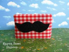 Natural Shave Soap – with fabric packaging and decorative moustache. The perfect gift for any man! :) Weight: 5oz. (approx.) This listing is for ONE