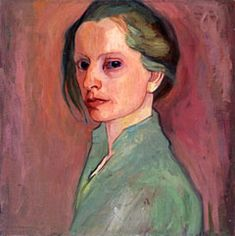 Käte Lassen (German 1880-1956), Selbstbildnis (Self-Portrait), oil/canvas, 1912. Private collection.